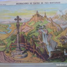 Coleccionismo Recortables: ESTAMPERIA ECONOMICA PALUZIE DECORACIONES DE TEATRO DE PAIS MONTAÑOSO Nº 509. Lote 194000531