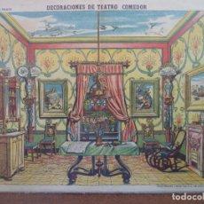 Coleccionismo Recortables: ESTAMPERIA ECONOMICA PALUZIE DECORACIONES DE TEATRO COMEDOR Nº 511. Lote 194000922