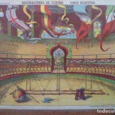 Coleccionismo Recortables: ESTAMPERIA ECONOMICA PALUZIE DECORACIONES DE TEATRO CIRCO ECUESTRE Nº 518. Lote 194003162