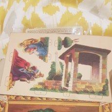 Coleccionismo Recortables: CROMO RECORTABLE PEDESTALES BIBLICOS N.3 ADORACIÓN DE LOS REYES. Lote 195434618