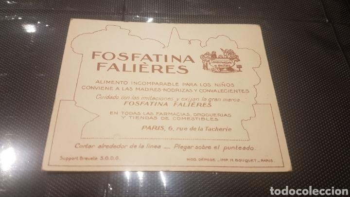 Coleccionismo Recortables: Recortable fosfatina falières años 20 muy raro - Foto 2 - 196395737