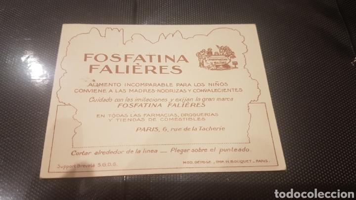 Coleccionismo Recortables: Cromo recortable fosfatina falières años 20 muy raro provence - Foto 2 - 196396115