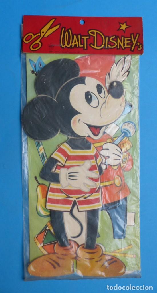 RECORTABLE DE MICKEY MOUSE, WALT DISNEY - AÑO 1965 - NUNCA USADO, GUARDADO EN SU PLASTICO SIN ABRIR (Coleccionismo - Otros recortables)
