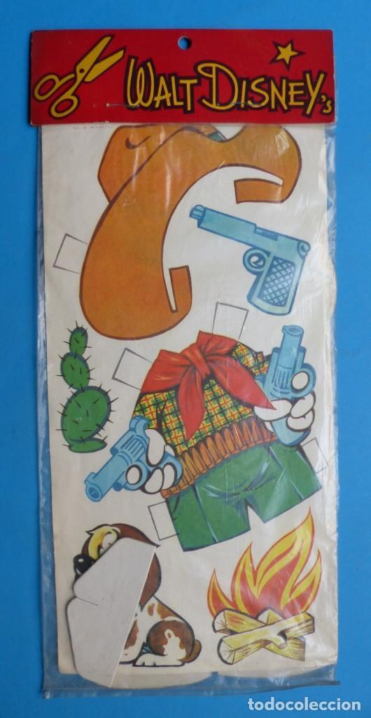 Coleccionismo Recortables: RECORTABLE DE MICKEY MOUSE, WALT DISNEY - AÑO 1965 - NUNCA USADO, GUARDADO EN SU PLASTICO SIN ABRIR - Foto 5 - 196641585