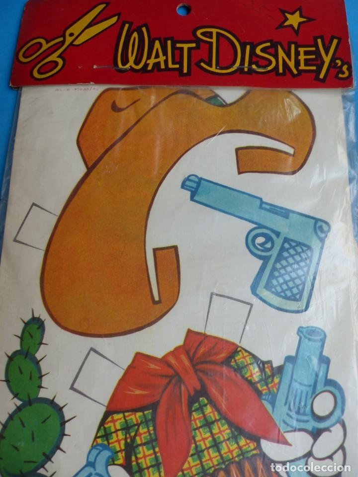 Coleccionismo Recortables: RECORTABLE DE MICKEY MOUSE, WALT DISNEY - AÑO 1965 - NUNCA USADO, GUARDADO EN SU PLASTICO SIN ABRIR - Foto 7 - 196641585