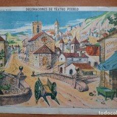 Coleccionismo Recortables: DECORACIONES DE TEATRO PUEBLO - ESTAMPERÍA ECONÓMICA PALUZIE Nº 1038. Lote 249137165