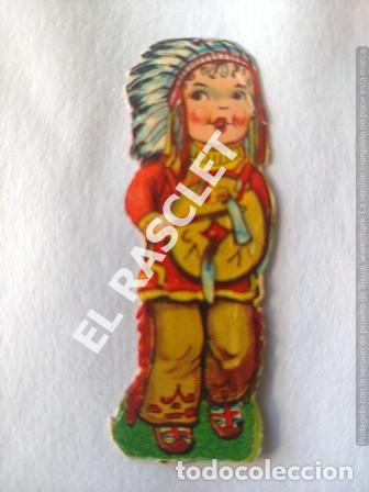 Coleccionismo Recortables: ANTIGUOS GROMOS RECORTABLES TROQUELADOS AÑOS 30 - PAREJA INDIOS - AMERICANOS - Foto 2 - 198640660