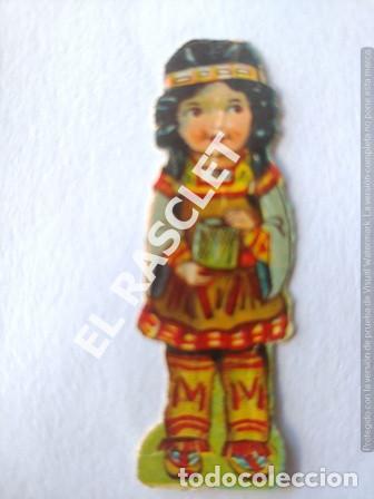 Coleccionismo Recortables: ANTIGUOS GROMOS RECORTABLES TROQUELADOS AÑOS 30 - PAREJA INDIOS - AMERICANOS - Foto 3 - 198640660