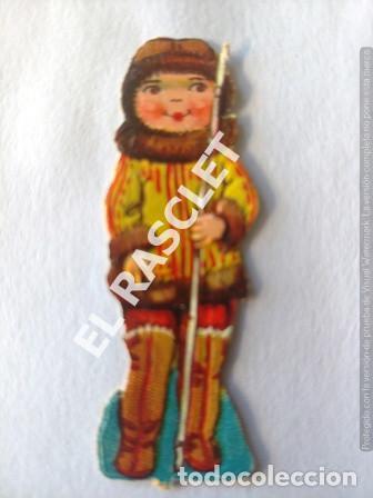Coleccionismo Recortables: ANTIGUOS GROMOS RECORTABLES TROQUELADOS AÑOS 30 - PAREJA ESQUIMALES - Foto 2 - 198640753