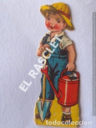 Coleccionismo Recortables: ANTIGUOS GROMOS RECORTABLES TROQUELADOS AÑOS 30 - PAREJA DE JARDINEROS - Foto 2 - 198641253