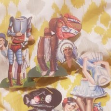 Coleccionismo Recortables: 4 CROMOS RECORTABLES CHOCOLATES EVARISTO JUNCOSA. Lote 198650310