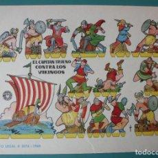 Coleccionismo Recortables: RECORTABLE EL CAPITÁN TRUENO CONTRA LOS VIKINGOS 1960 BRUGUERA. Lote 198681868