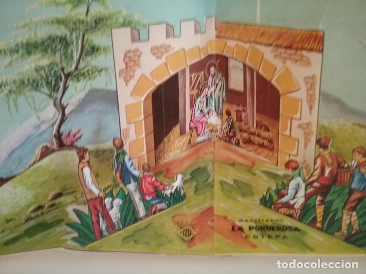 Coleccionismo Recortables: POP UP BELÉN PESEBRE NACIMIENTO DE CARTON TROQUELADO - Foto 2 - 199201552