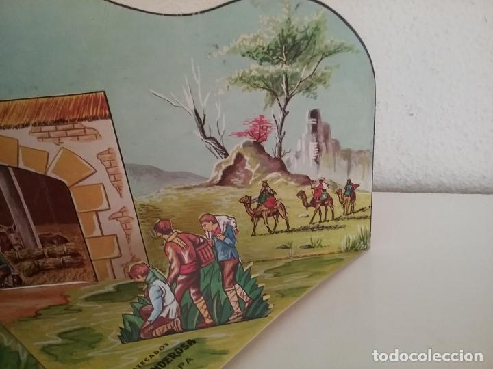 Coleccionismo Recortables: POP UP BELÉN PESEBRE NACIMIENTO DE CARTON TROQUELADO - Foto 3 - 199201552