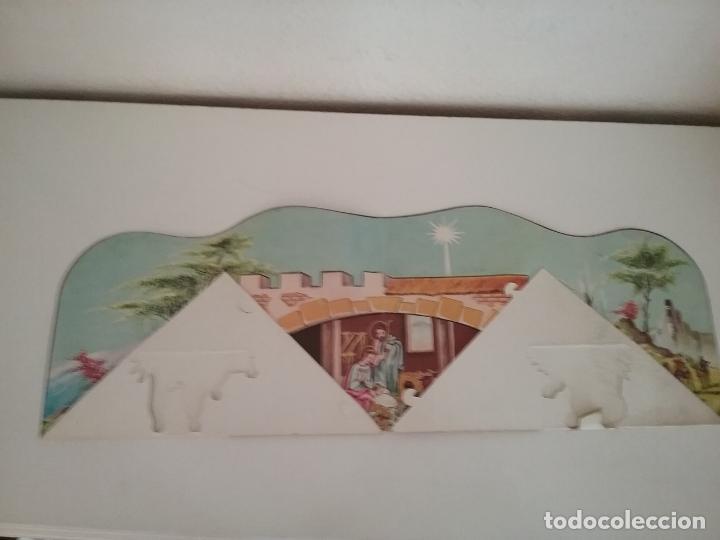 Coleccionismo Recortables: POP UP BELÉN PESEBRE NACIMIENTO DE CARTON TROQUELADO - Foto 7 - 199201552