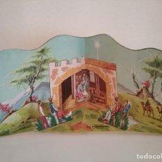 Coleccionismo Recortables: POP UP BELÉN PESEBRE NACIMIENTO DE CARTON TROQUELADO. Lote 199201552