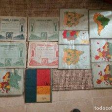 Coleccionismo Recortables: EJERCICIOS GEOGRAFIA (LOTE). Lote 199453772
