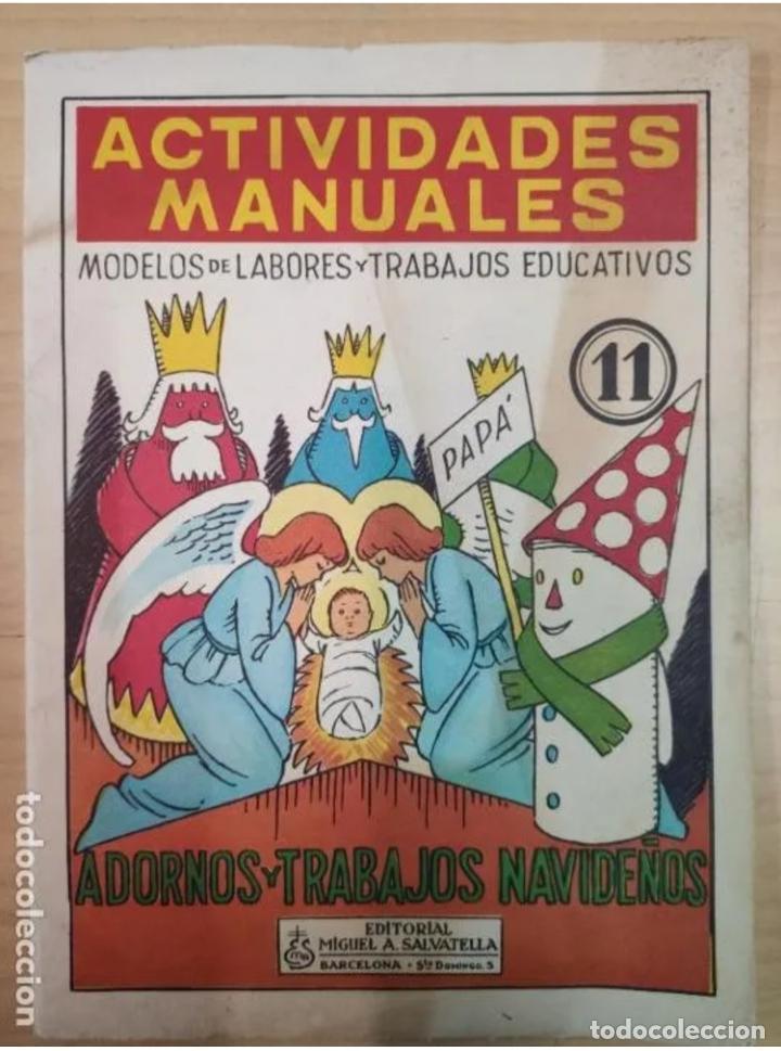 ACTIVIDADES MANUALES, ADORNOS Y TRABAJOS NAVIDEÑOS, Nº11 (Coleccionismo - Otros recortables)
