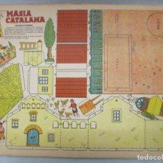 Coleccionismo Recortables: COLECCION RECORTABLES CONSTRUCCIONES / TBO / 4 LAMINAS / MASIA CATALANA / MOLINO DE VIENTO / CARRO. Lote 205115898