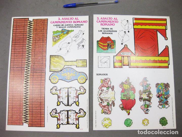 Coleccionismo Recortables: RECORTABLE CALCOMIC ASTERIX Y OBELIX III ASALTO AL CAMPAMENTO ROMANO - KIT-KIT - Foto 10 - 205206540