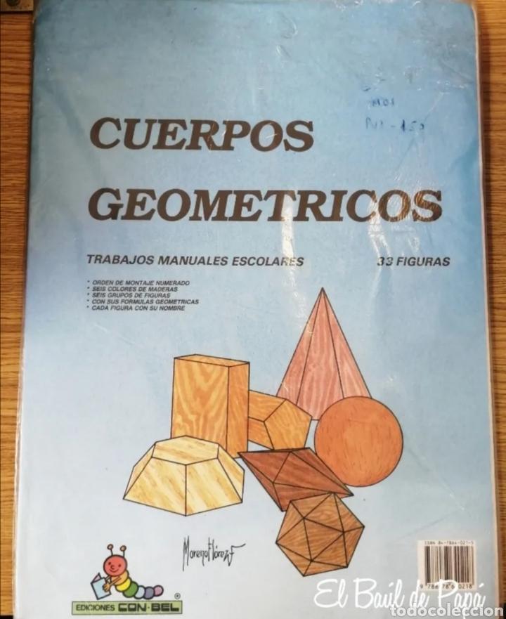 RECORTABLES CUERPOS GEOMÉTRICOS 33 FIGURAS . AÑOS 80. COMBEL (Coleccionismo - Otros recortables)