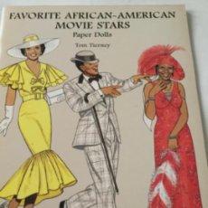 Coleccionismo Recortables: FAVORITE AFRICAN-AMERICAN MOVIE STARS- 16 PÁGINAS- NUEVO COMPLETAMENTE. Lote 205769981