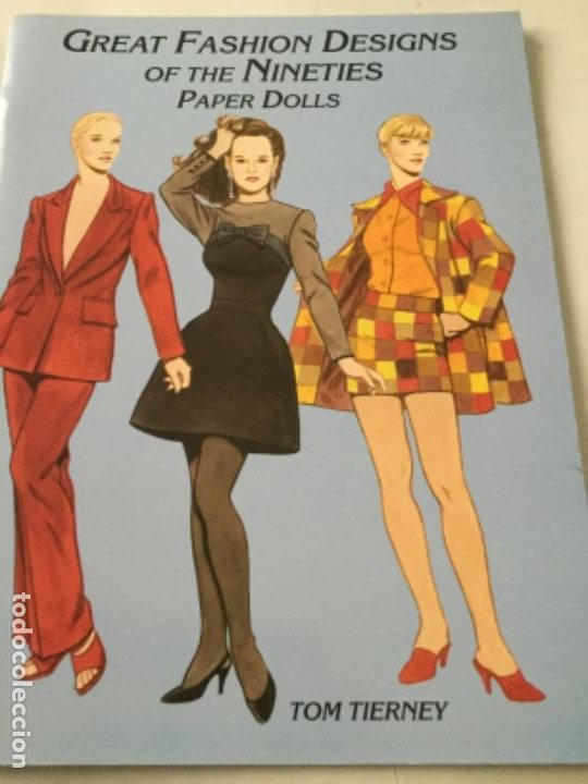 Coleccionismo Recortables: great fashion designs of the nineties- 16 páginas- nuevo completamente - Foto 1 - 205770148
