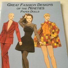 Coleccionismo Recortables: GREAT FASHION DESIGNS OF THE NINETIES- 16 PÁGINAS- NUEVO COMPLETAMENTE. Lote 205770148