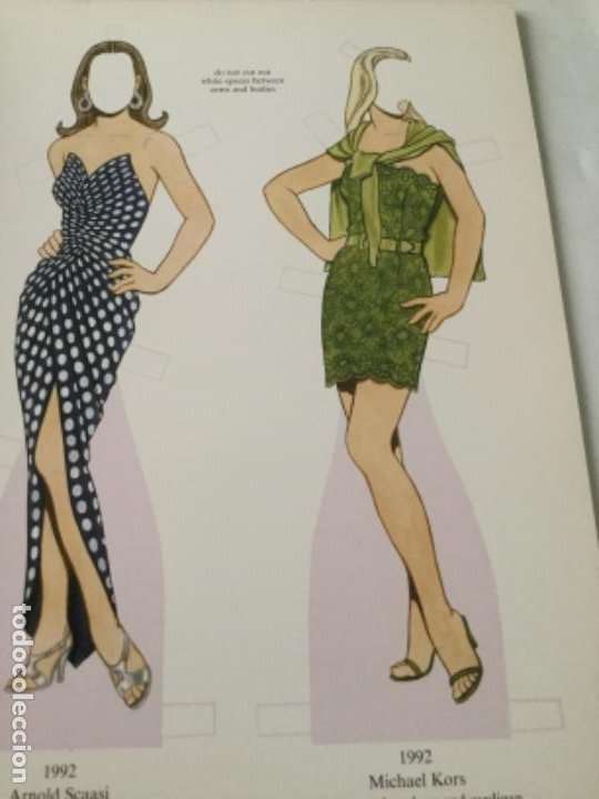 Coleccionismo Recortables: great fashion designs of the nineties- 16 páginas- nuevo completamente - Foto 3 - 205770148
