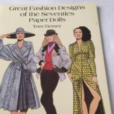 Coleccionismo Recortables: GREAT FASHION DESIGNS OF THE SEVENTIES- 16 PÁGINAS- NUEVO COMPLETAMENTE. Lote 205770306