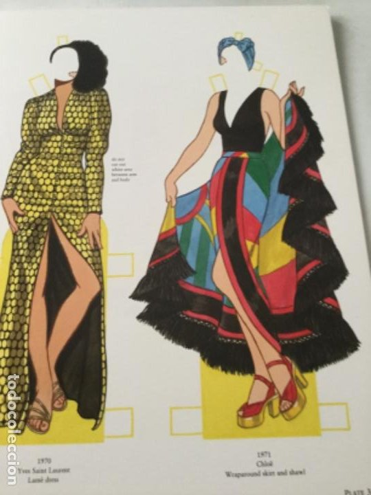 Coleccionismo Recortables: great fashion designs of the seventies- 16 páginas- nuevo completamente - Foto 2 - 205770306