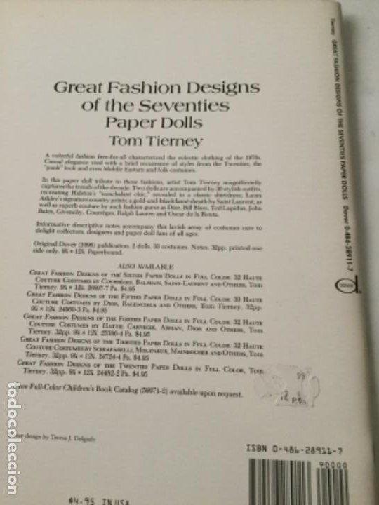 Coleccionismo Recortables: great fashion designs of the seventies- 16 páginas- nuevo completamente - Foto 6 - 205770306