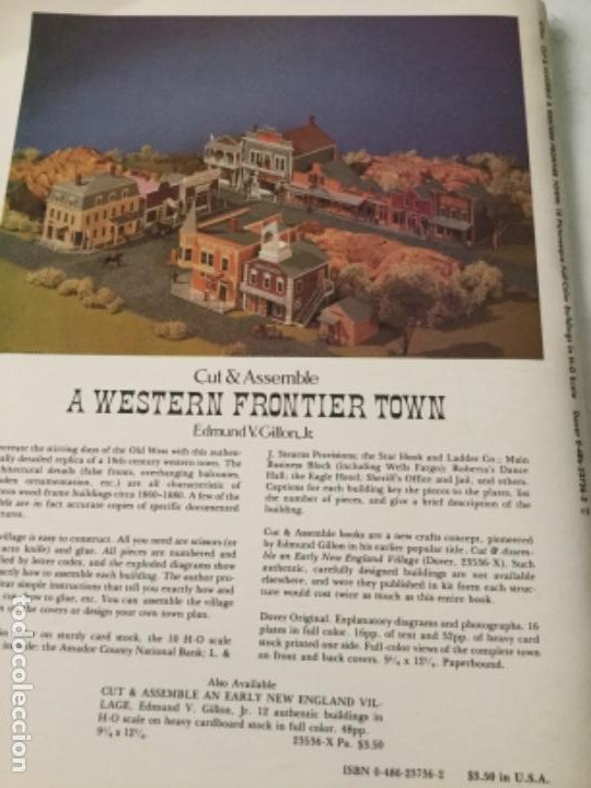 Coleccionismo Recortables: a western frontier town- 16 páginas- nuevo completamente - Foto 5 - 205770491