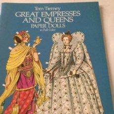 Coleccionismo Recortables: GREAT EMPRESSES AND QUEENS- 16 PÁGINAS- NUEVO COMPLETAMENTE. Lote 205770706