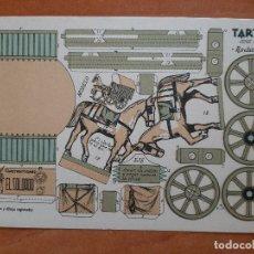 Coleccionismo Recortables: RECORTABLE . TARTANA - EL SOLDADO. Lote 205800643