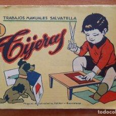 Coleccionismo Recortables: RECORTABLE : TIJERAS , TRABAJOS MANUALES SALVATELLA - Nº 1. Lote 205801241