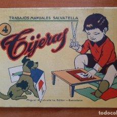 Coleccionismo Recortables: RECORTABLE : TIJERAS , TRABAJOS MANUALES SALVATELLA - Nº 4. Lote 205801821
