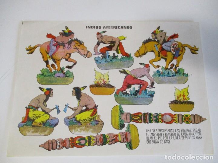 INDIOS AMERICANOS RECORTABLE 1960 (Coleccionismo - Otros recortables)