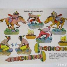 Coleccionismo Recortables: INDIOS AMERICANOS RECORTABLE 1960. Lote 206434895