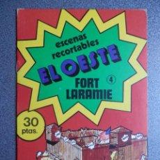 Coleccionismo Recortables: LOTE 3 CUADERNOS RECORTABLES EL OESTE: FORT LARAMIE, EL RODEO, LA CARAVANA. Lote 207245518