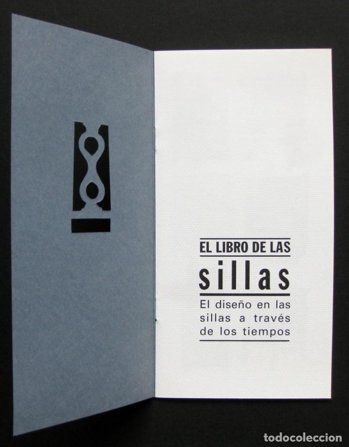 Coleccionismo Recortables: A little book of chairs – folleto troquelado - Foto 2 - 209975055