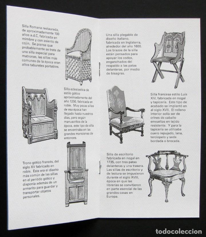 Coleccionismo Recortables: A little book of chairs – folleto troquelado - Foto 3 - 209975055