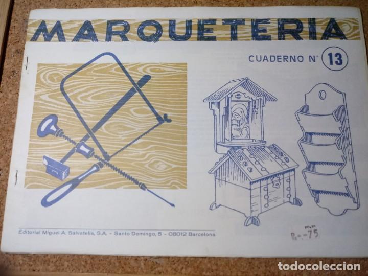 CUADERNO DE MARQUETERIA Nº 13 (Coleccionismo - Otros recortables)