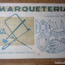 Coleccionismo Recortables: CUADERNO DE MARQUETERIA Nº 14. Lote 210128690