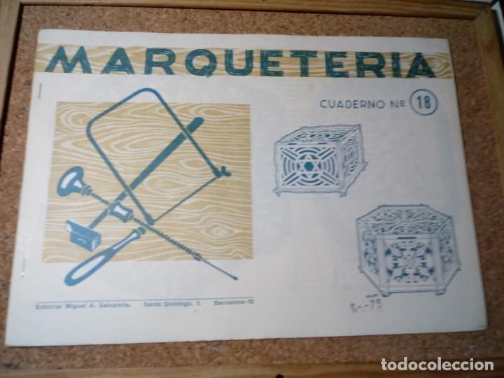 CUADERNO DE MARQUETERIA Nº 18 (Coleccionismo - Otros recortables)