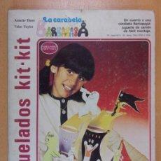 Coleccionismo Recortables: TROQUELADOS KIT-KIT. LA CARABELA BARBAPAPA / ANNETTE TISON - TALUS TAYLOR / 1978. Lote 210674557