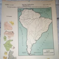Coleccionismo Recortables: 6 RECORTABLES LOS 5 CONTINENTES MAPAS SECCION INSTRUCTIVA LA TIJERA. Lote 211949586