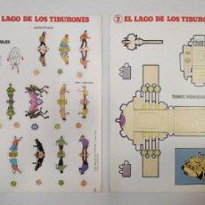 Coleccionismo Recortables: 2 LAMINAS - RECORTABLES Y TROQUELADOS DE TINTÍN, 1982. Lote 211952115