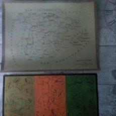 Coleccionismo Recortables: 2 RECORTABLES EJERCICIOS DE GEOGRAFIA SEIX BARRAL. Lote 211954562