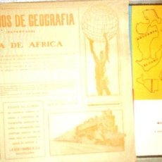 Coleccionismo Recortables: 7 RECORTABLES EJERCICIOS DE GEOGRAFIA SEIX BARRAL. Lote 211956658